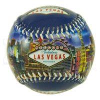 Las Vegas Sign Hotels Blue Baseball