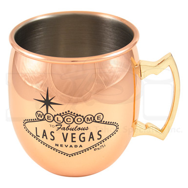 Las Vegas Sign Copper Stainless Moscow Mule Mug