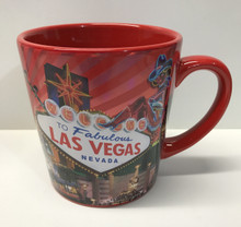Las Vegas Sign Red Coffee Mug 16 Ounce