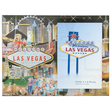 Las Vegas Collage Foil Picture Frame