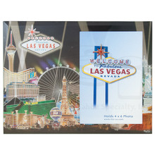 Las Vegas Glass Foil Picture Frame