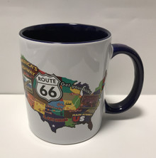Route 66 USA Map Coffee Cup