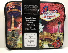 Las Vegas Sign Zipper Padded Travel Case Tablet PDA iPad