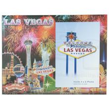 Las Vegas Foiled Fireworks Picture Frame