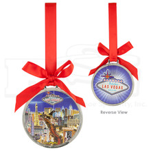 Las Vegas Sign Strip Foil Finish Hanging Ornament