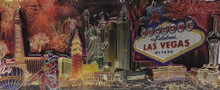 Las Vegas Sign Fireworks Foil Magnet