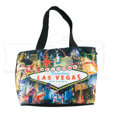 Las Vegas Sign Hotels Casino Canvas Black Tote Bag
