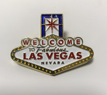 Las Vegas Welcome Sign Metal Clip Magnet
