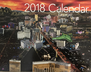 2018 14 Month Las Vegas Strip Hotels Wall Calendar
