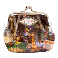 Las Vegas Strip Hotels Spotlight Coin Purse