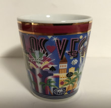 Las Vegas Ceramic Pearl Finish Shotglass