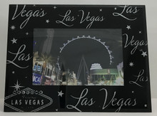 Las Vegas Sign Black Glitter Picture Frame