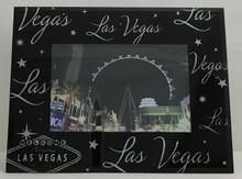 Las Vegas Sign Black Glitter Picture Frame