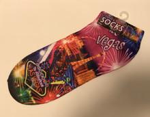 Las Vegas Neon Fireworks Ankle Socks Adult