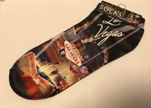 Las Vegas Sign Strip Hotels Ankle Socks Adult