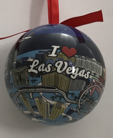 I Love Las Vegas Christmas Tree Ball Ornament