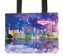 Las Vegas Hotels Nylon Handbag Tote Bag Zippered