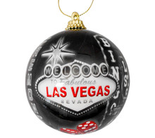 Vintage Las Vegas Sign Hotels Christmas Tree Ball Ornament Holiday