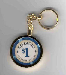Bellagio $1 Casino Chip Key Ring