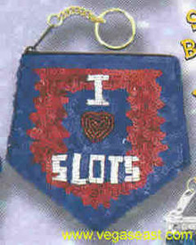 I Love Slots Coin Purse Blue