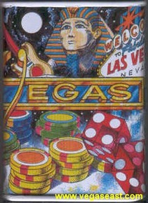 Las Vegas Collage Tin Bank