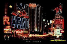 Las Vegas Night Scene Poster