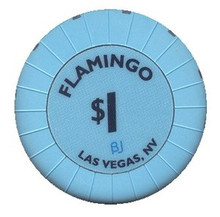 Flamingo Las Vegas $1 Casino Chip J0795CC