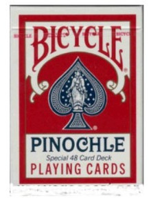 Bicycle Pinochle Playing Cards Red Deck