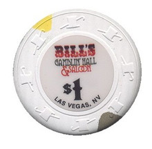 Bill's Gamblin Hall $1 Casino Chip