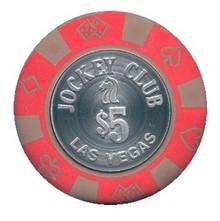Jockey Club Las Vegas $5 Casino Chip