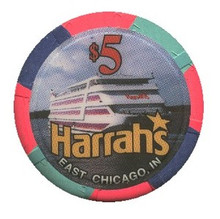 Harrah's $5 Casino Chip East Chicago Indiana