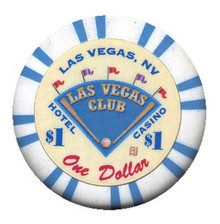 Las Vegas Club $1 Casino Chip J0727CC