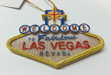 Welcome Las Vegas Sign Glitter Christmas Tree Ornament