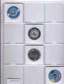 Casino Chip Token Vinyl Page Holder
