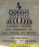 4 Queens Las Vegas Casino Match Book