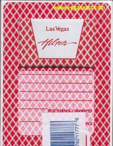 Las Vegas Hilton Las Vegas Casino Playing Cards J0820VPC