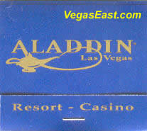 Aladdin Las Vegas Casino Match Book