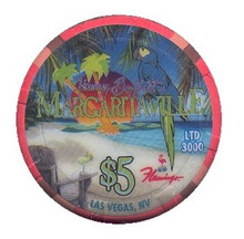Flamingo Las Vegas $5 Casino Chip Margaritaville