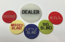 Poker Table Dealer Button Set Big Blind WSOP