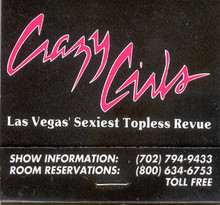 Riviera Crazy Girl Match Book