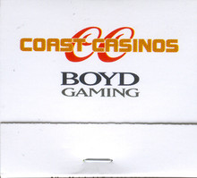 Coast Casinos Boyd Gaming Match Book