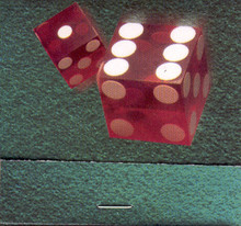 Binion's Horseshoe Match Book Red Dice