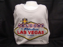 Welcome To Las Vegas Sign Ice Grey T-Shirt