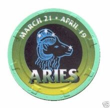 Aries Zodiac Gaming Chip