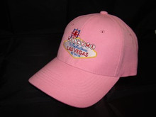 Welcome To Las Vegas Sign Pink Baseball Cap