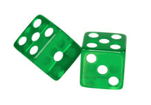 Green Craps Dice Set of 2