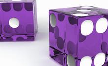 Purple Craps Dice Set of 2