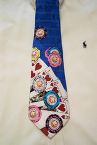 MGM Las Vegas Royal Flush Casino Chips Silk Neck Tie