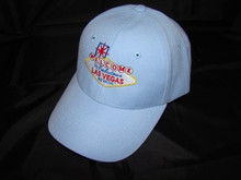 Welcome To Las Vegas Sign Blue Baseball Cap