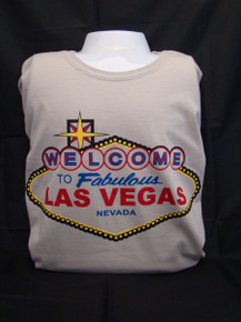 Welcome To Las Vegas Sign Softstyle Ringspun Sand T Shirt